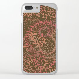 Earth Swirls Clear iPhone Case