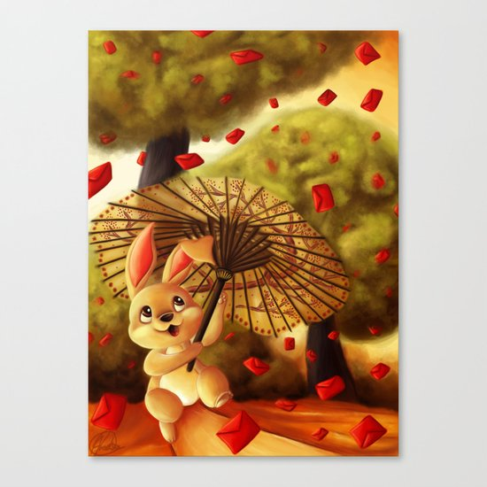 Year of the Bunny Canvas Print