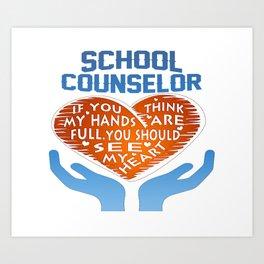 School Counselor Art Print