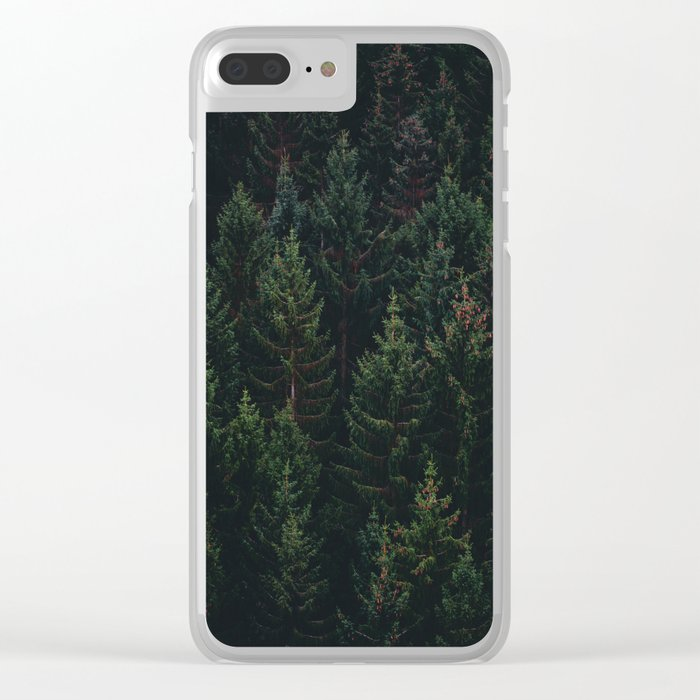 Forest of Pines Clear iPhone Case