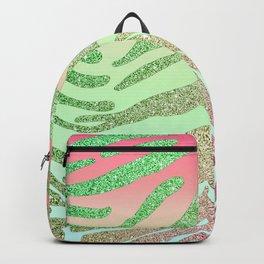 Watermellon Glitter Tiger Stripes Backpack