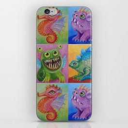Baby Dragon Funny Monster Comic Illustration Painting for children Nursery decor iPhone Skin