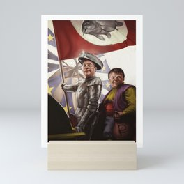 Don KeyHotair - Nigel Farage/Don Quixote mash-up Mini Art Print