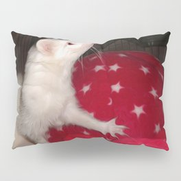 The Ivory Ferret and the Starry Red Bouncy House Pillow Sham