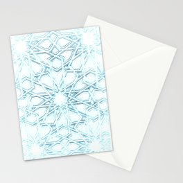 Atomic Snowflake Stationery Cards