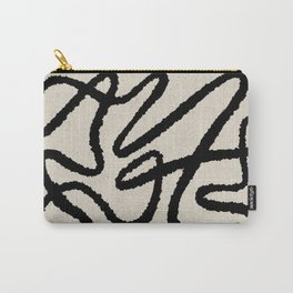 Line art abstract black 1 Carry-All Pouch