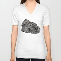 knit V-neck T-shirts featuring Knit Cap by JBlye