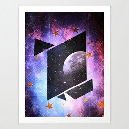 Moon beam Art Print