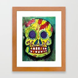 Spoiled Sugar Skull Framed Art Print