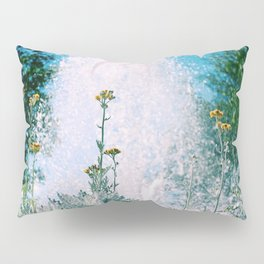 Flowers and Fountains #1 Pillow Sham