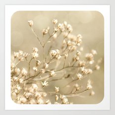 Softer I Botanical Flora Nature Neutral Tan Cream  Art Print