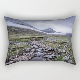 Foggy Mountains in Scotland Rectangular Pillow