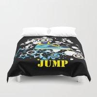 sneaker Duvet Covers featuring Jump, Dance, Sneaker, Hip Hop by MiartDesignCreation