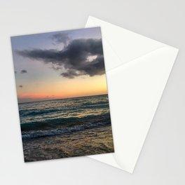 Waikiki Beach at Dusk Sunset Stationery Cards