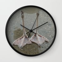 feet Wall Clocks featuring Feet by Lady Tanya bleudragon
