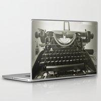 typewriter Laptop & iPad Skins featuring typEwriTer by ''CVogiatzi.