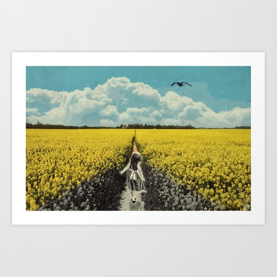 Yellow Flowers/discolored Art Print