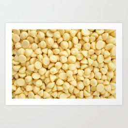 Milky white chocolate chips Art Print