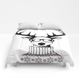 Hipster deer Comforters