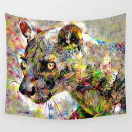 Babou the ocelot Wall Tapestry