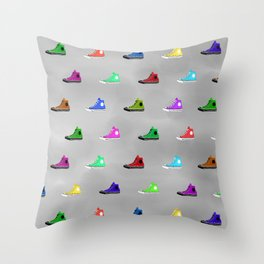 Rock shoes Throw Pillow
