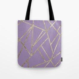 Classic Lavender Gold Geo #1 #geometric #decor #art #society6 Tote Bag