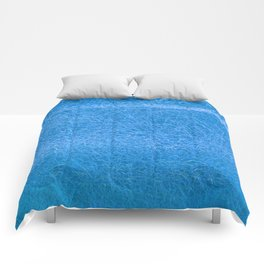 Crinkled Frost Blue Foil Texture Christmas/ Holiday Comforters