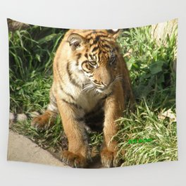 Young Tiger Wall Tapestry