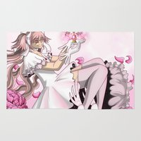 madoka magica Area & Throw Rugs featuring Ultimate Madoka by BlacQueen