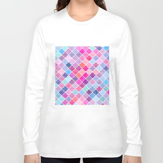 Watercolor Lovely Pattern CII Long Sleeve T-shirt