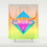 bull Shower Curtains featuring Bull  by Anders Teigene