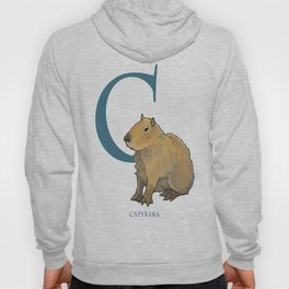 """C is for Capybara"" : The UnderAppreciated Animals™ series (ABC unusual creatures for kids)  Hoody"