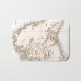 Vintage Map of Tasmania (1837) Bath Mat