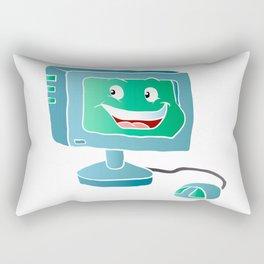 Computer Smile. Rectangular Pillow