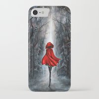 red hood iPhone & iPod Cases featuring Little Red Riding Hood by Annya Kai