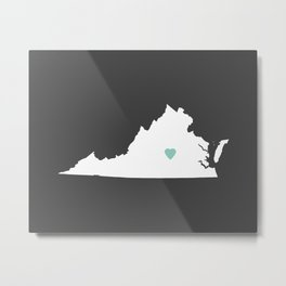 Virginia Love in Charcoal Metal Print