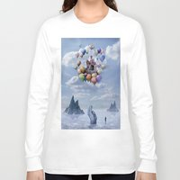 castle Long Sleeve T-shirts featuring Sweet Castle by teddynash