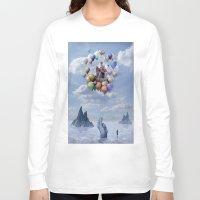 ballon Long Sleeve T-shirts featuring Sweet Castle by teddynash