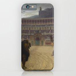 Jean-Leon Gerôme - The Christian Martyrs' Last Prayer iPhone Case