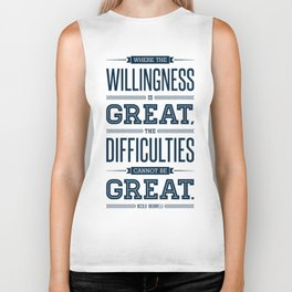 Lab No. 4 Where The Willingness Niccolo Machiavelli Inspirational Quotes Biker Tank