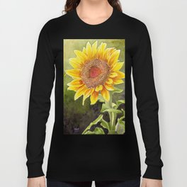 Sunflower–Watercolor Long Sleeve T-shirt