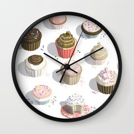 I Like Cupcakes Wall Clock