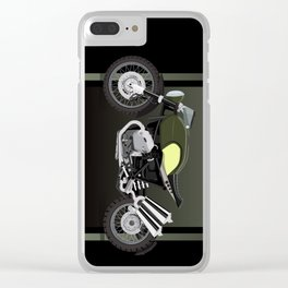 vintage motorcycle poster vector illustration Clear iPhone Case