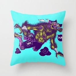 Sky High Wolf Throw Pillow