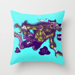 Sky High Wolf Throw Pillow