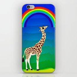 Giraffe with swag iPhone Skin
