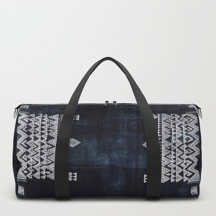 Arteresting V48 - Indigo Anthropologie Bohemien Traditional Moroccan Design Duffle Bag