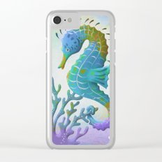 Hypercolor Seahorse Clear iPhone Case