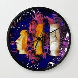 The Heads of Easter Island Wall Clock