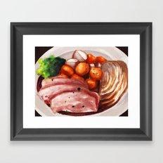 Cornbeef and Cabbage Framed Art Print